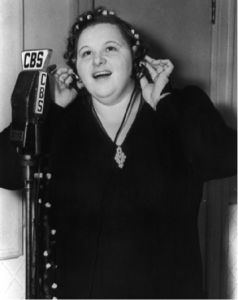 Kate Smith on her CBS Radio Show The Kate Smith Hour