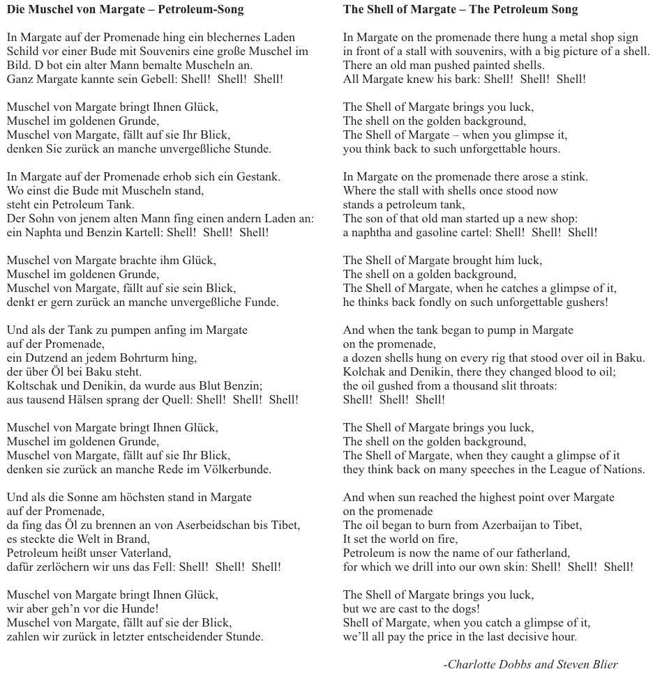 Muschel von Margate translation